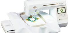 The Baby Lock Flourish embroidery machine.