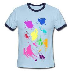 Paint Splatter T-Shirt | Spreadshirt | ID: 11908016