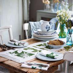 Stencil deixa para toalhas de mesa | Artesanato
