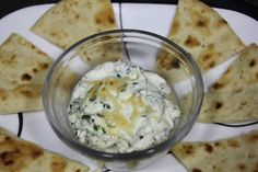 Looking for a healthy and tasty spinach and feta dip?  Add some blue chips or soft pita bread to enjoy the dip!