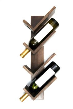 Stylish Rustic Wooden Hanging Wine Rack Design Ideas - Fresh Home Ideas Wine Holder For Wall, Wine Rack Wall, Wine Wall, Wine Bottle Holders, Wine Bottles, Wooden Wine Holder, Wine Decanter, Small Wine Racks, Rustic Wine Racks