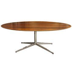 1stdibs.com | Florence Knoll Brazilian Rosewood and Chrome Oval Table $5,500.00