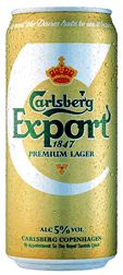 11th February 2013 ~ #DailyPint 42: Pint of Carlsberg Export. Slightly stronger and tasty. 7/10 [Drank at home]