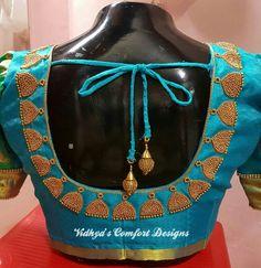 Bridal Blouse Designs done at Vidhya's Comfort Designs, Besant Nagar, Chennai Contact - 9003020689 Bridal Blouse Designs done at Vidhya's Comfort Designs, Besant Nagar, Chennai Contact - 9003020689 Patch Work Blouse Designs, Hand Work Blouse Design, Maggam Work Designs, Simple Blouse Designs, Stylish Blouse Design, Wedding Saree Blouse Designs, Saree Blouse Neck Designs, Chennai, Designer Blouse Patterns