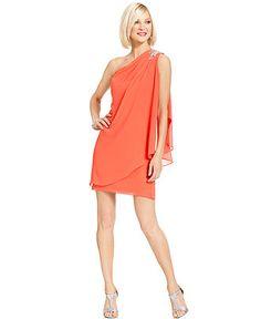 JS Boutique Dress, Sleeveless One-Shoulder Jeweled - Dresses - Women - Macy's 129