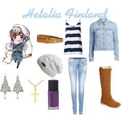 """Hetalia Finland - Casual Cosplay"" by ak-hamilton on Polyvore"