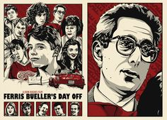 Ferris Bueller's Day Off poster work by Chris Morkaut, via Behance