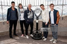 Siva Kaneswaran, Jay McGuiness, Max George, Tom Parker, and Nathan Sykes of The Wanted visit The Empire State Building on April 24, 2012 in New York City.