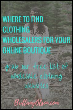 Where to Find Clothing Wholesalers for Your Online Boutique