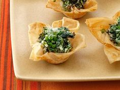 Spinach and Goat Cheese Tartlets  #RecipeSerendipity #recipe #appetizer Fantastic recipes for appetizers and more.
