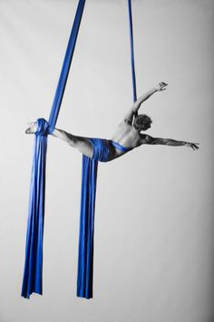 Aerial silks. I do a much less cool version of this every monday!