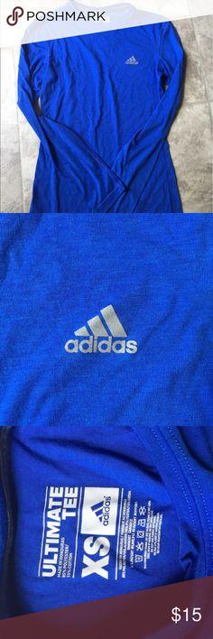 ADIDAS XS long sleeve Tee Blue, long sleeve tshirt from ADIDAS adidas Tops Tees - Long Sleeve