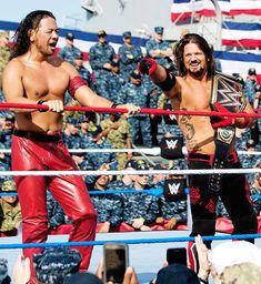 Shinsuke Nakamura and AJ Styles