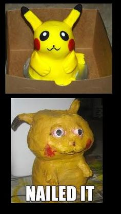 Pikachu cake is a #pinterestfail