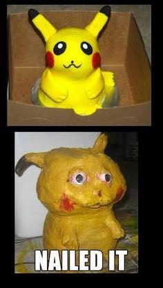 Pikachu cake is a #pinterestfail