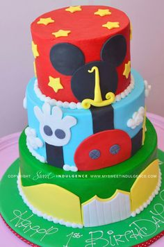Mickey Mouse Cake! Maybe Aydens first birthday cake!