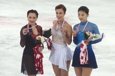 Elizaveta Tuktamysheva(Russia) Ashley Wagner(USA) and Yuka Nagai(JAPAN) : Skate Canada 2015