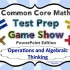 4th Grade Common Core Math Test Prep Game Show (OA) PowerPoint
