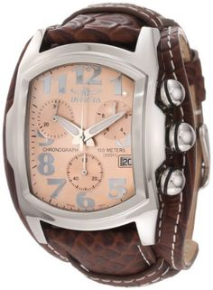 Invicta Men's 11323 Lupah Chronograph Rose Gold Tone Dial Brown Leather Watch Invicta, http://www.amazon.com/dp/B007HNF0ZI/ref=cm_sw_r_pi_dp_CS1nrb1N012FS