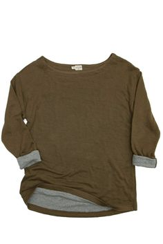 Amherst Olive Heather Wool Knit Top