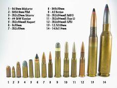 caliber comparison diameter - Google Search | Guns | Pinterest ...