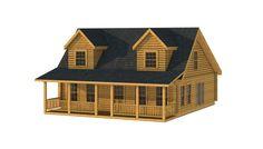 Knott Front Elevation - Southland Log Homes