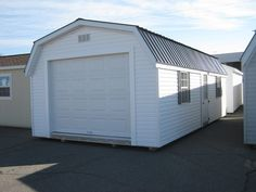 Sheds Direct Vinyl Barn in white!  Nice looking Shed!