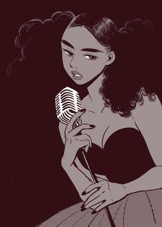Discover the finest artists from animation, games, illustration and comics. Black Love Art, Black Girl Art, Cartoon Kunst, Cartoon Art, Character Design Cartoon, Character Art, Art And Illustration, Pretty Art, Cute Art