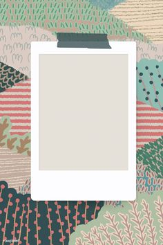 Blank photo frame on abstract landscape background vector Photo Collage Template, Picture Templates, Marco Polaroid, Polaroid Picture Frame, Instagram Frame Template, Blank Photo, Instagram Background, Landscape Background, Aesthetic Iphone Wallpaper