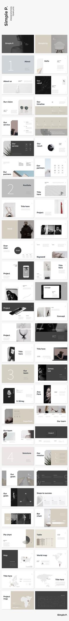 Awesome Simple & Minimal Layout Presentation Template #ppt #powerpoint #template #simple