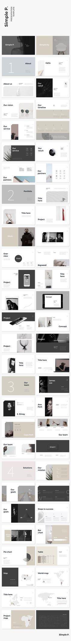 Simple & Minimal Presentation Template #keynote #presentation #simple #minimal #portfolio #business #marketing