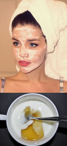 With only 2 simple ingredients, Yogurt and honey. More Skin Care recipes here: Skin brightener. With only 2 simple ingredients, Yogurt and honey. More Skin Care recipes here: Beauty Care, Beauty Skin, Beauty Secrets, Beauty Hacks, Diy Beauty, Peeling, Facial Care, Beauty Recipe, Tips Belleza
