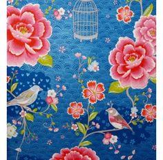pip tapet blå fåglar blommor wallpaper blue birds flowers