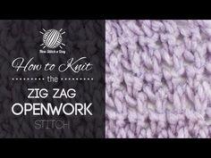 The Zigzag Openwork Stitch :: Knitting Stitch #186 :: New Stitch A Day