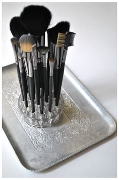 Use as a brush holder