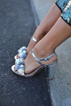 DIY Disco Pom Pom Shoes