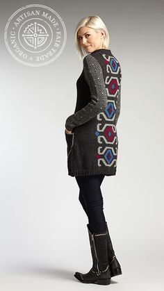 Women's Alpaca Indi Coat. Winter & Fall '13 Line preview from INDIGENOUS organic + fair trade fashion.