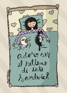 Adoro ser el relleno de este sandwich ♥