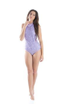Lavender Lace Bodysuit- Women's One Piece Leotard- Norka Costume Ideas, Costumes, One Piece For Women, Lace Bodysuit, Leotards, Floral Lace, Lavender, Swimwear, Fashion