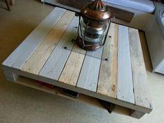 Γγρ│ des jolis tons pour cette palette recyclée en table basse.