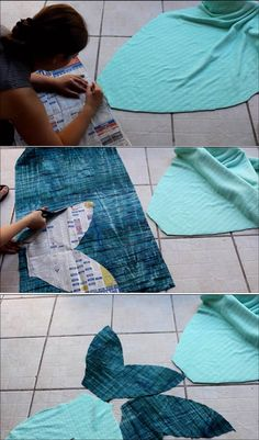 How to Make a Mermaid Tail Blanket Step 3