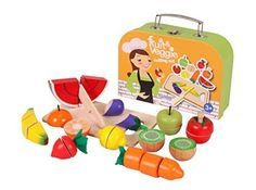 Njoykids Velcro Cutting Fruits and Vegetables Pretend Play Wooden Toy Set with Handle Box >>> You can get more details by clicking on the image.