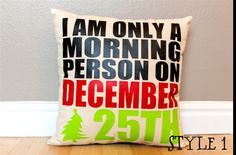 4 Styles  Christmas I Am Only A Morning Person on by AndersAttic, $25.00
