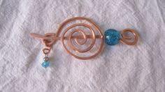 Haarspange Pin Kupfer Glasperlen  -Versiegelt von Elbengard auf DaWanda.com