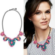 Fashion Vintage 2014 New Spring Bohemian Colorful Flower Womens Necklaces Pendants Jewelry Choker Statement Bib Casual Wholesale $11,07