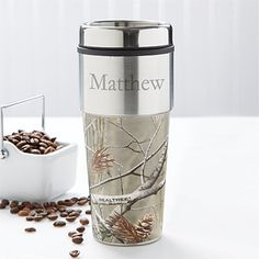 For Father's Day...Can't hurt that it already has my dad's name on it... RealTree® Personalized Travel Mug