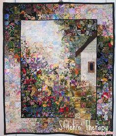 """Назову эту технику """"Акварель"""", хотя это и не совсем правильно, но если вы зададите в поисковик """"watercolor quilts"""", то найдёте работы выполненные именно в этой технике."""