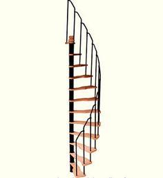 Escalier (Izoard) HELICOIDALE gain de place, colimaçon, moderne, spirale, design