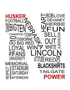 Everything that makes the Nebraska Cornhusker Football team great!