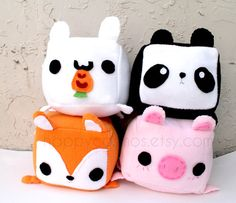 Animal Plush  Kawaii Plushie  Cute Stuffed Animal by HappyCosmos, $15.00